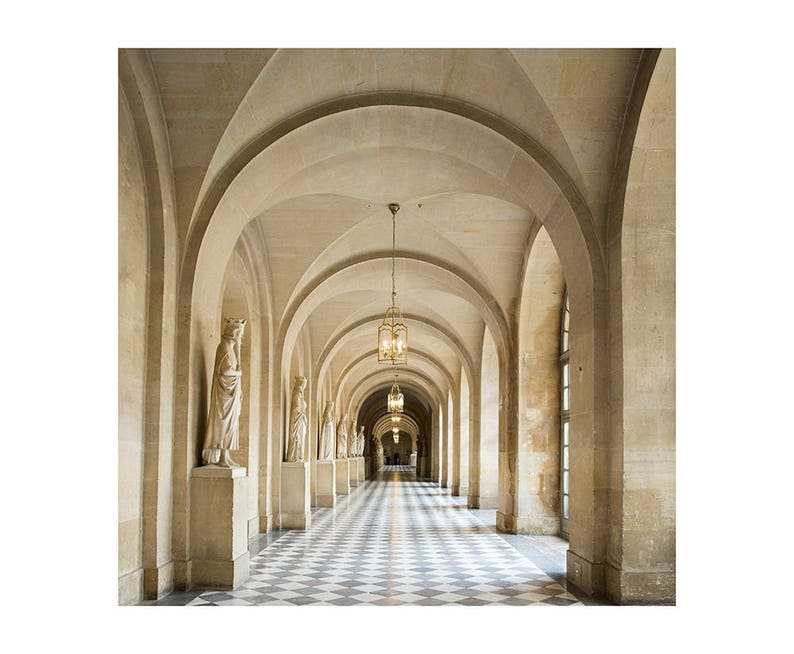 Neutral Paris Photography  Versailles Hallway  French Home image 0