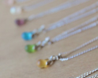 1 Sugary SEA GLASS Necklace perfect for the bridal party- Sterling Silver upgrade available bridesmaid necklace beach glass necklace