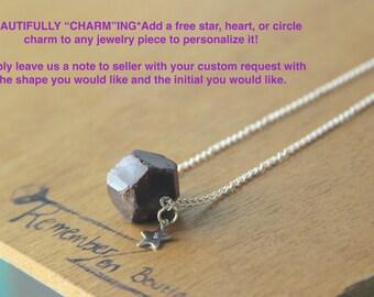 1 January Birthstone necklace Raw GENUINE Crystal Natural RAW Garnet January Birthstone