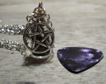 Black Salt Protection Bottle Pendant Charm Amulet Necklace