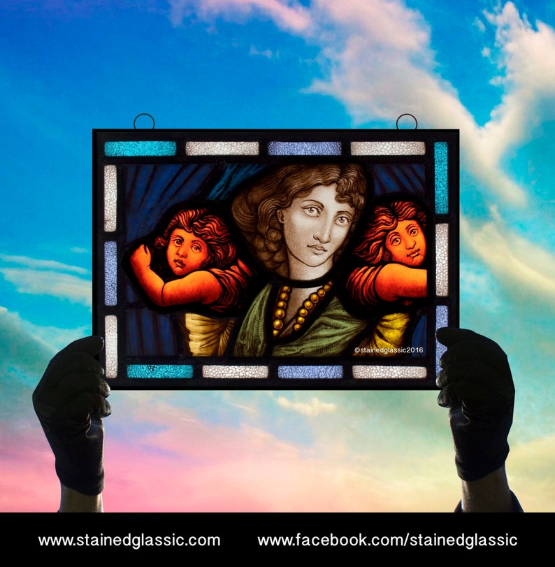 Stained Glass window 'Holding your Love' Panel image 0