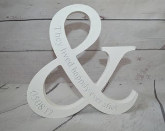Freestanding wedding '& they lived happily ever after' ampersand