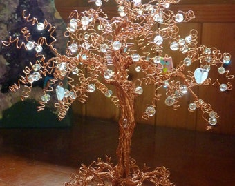 Copper Tree and Pink Owl