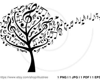 Music Owls Music Birds Digital Clip Art Music Notes Clipart Etsy