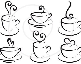 Tea clipart set   Etsy