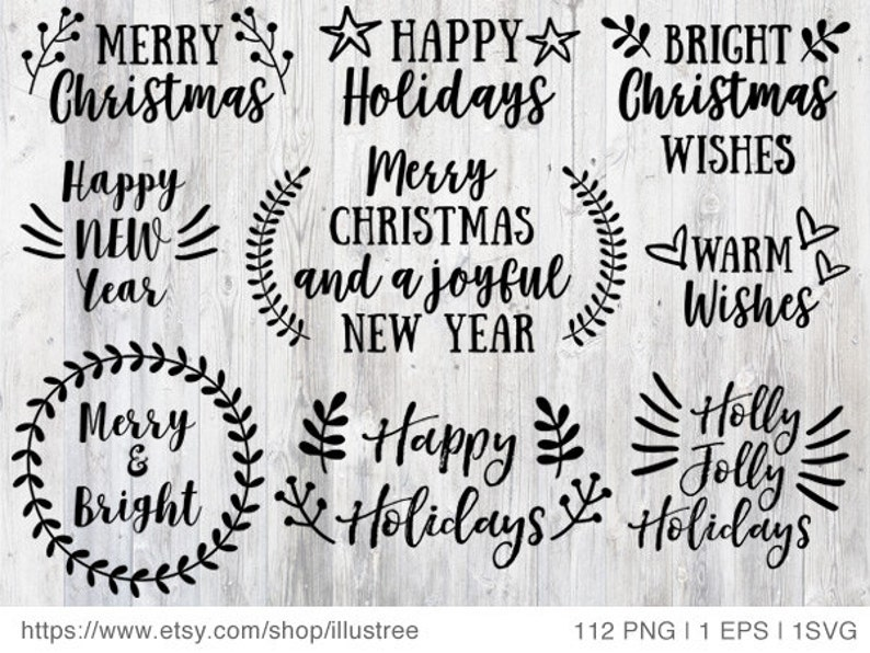 112 Christmas overlays black and white Christmas clip art for image 0