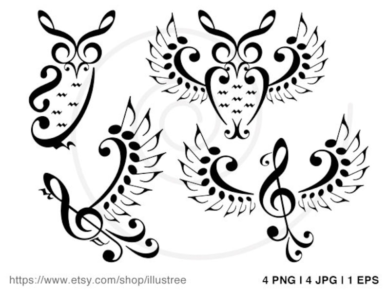 Music Owls Music Birds Digital Clip Art Music Notes Clipart