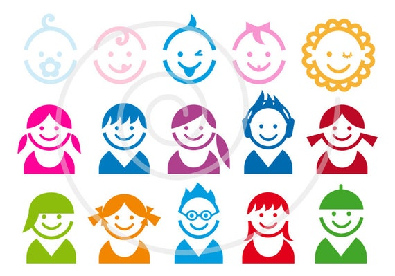 cute baby and children faces digital clipart clip art etsy rh etsy com etsy clip art floral etsy clipart masquerade silver