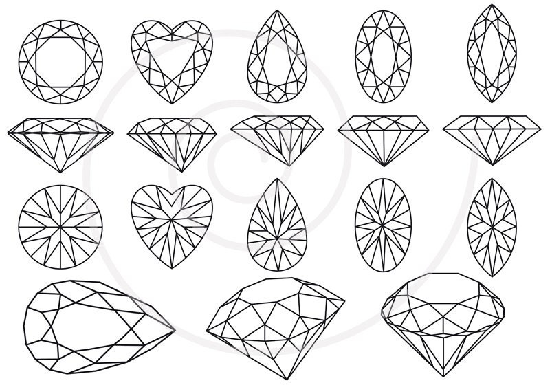 gold and jewels coloring pages - photo#4