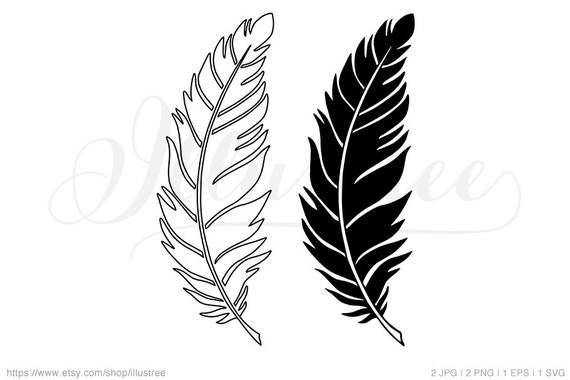 Feather Cut Files For Cricut Feather Clip Art Feather Image Feather Svg Clipart Image Feather Svg Cut File Feather Svg Cut File