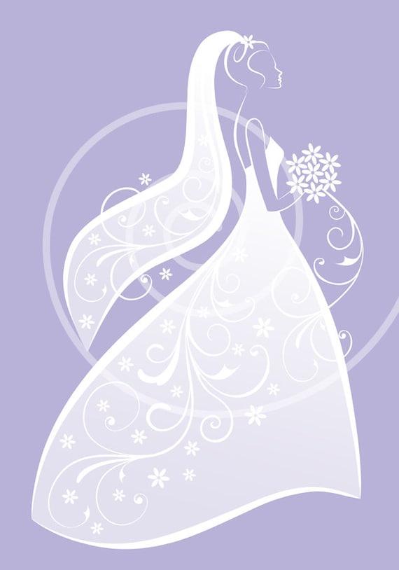 bride clipart white wedding dress digital clipart for bridal etsy rh etsy com bridal clipart images bride clipart free