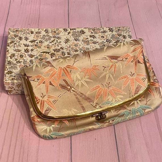 Vtg M. Yamamoto & Co Silk Clutch Purse w/ Original