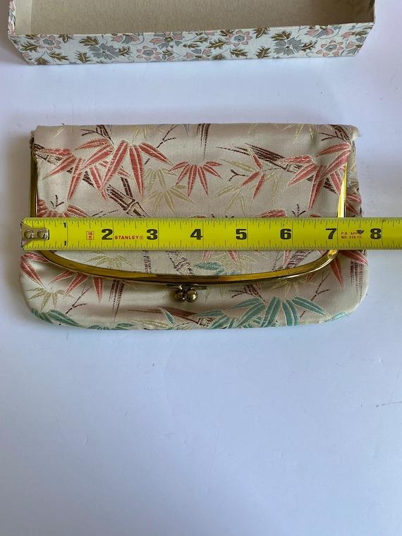 Vtg M. Yamamoto & Co Silk Clutch Purse w/ Origina… - image 10