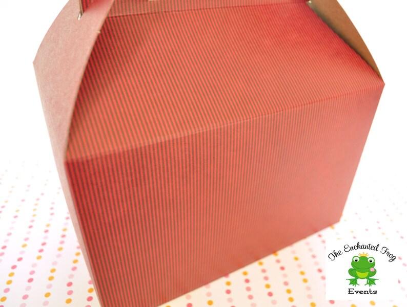 Favor Box Picnic Box 24 Black with White Dots Favor Box Lunch Box
