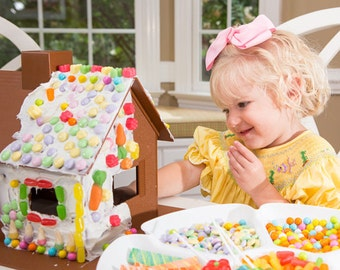 SHIPS FAST! Candy Cottage, Reusable Gingerbread House, Gingerbread House, Gingerbread House Kit, Candy House