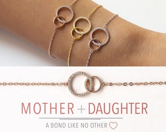 Mothers Day Mom Gifts Mother Daughter Bracelet The Love Between Mother and Daughter is Forever