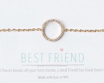 Eternity Circle Friendship Bracelet Eternity bracelet Gold best friend bracelet gold Gift for Best Friend Birthday Gift for Her B162-G13