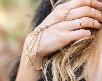 Hand Chain Bracelet, Coachella Bracelet, Egyptian Jewelry , Festival Hand Chain Bracelet, Bohemian Jewelry, Dainty Coachella Jewelry B502-G