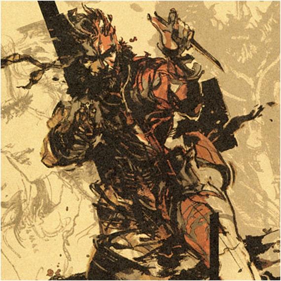 Metal Gear Solid Snake Eater Close Quarters Combat Poster Print