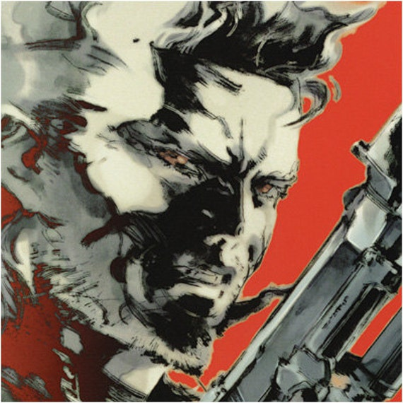 Metal Gear Solid Snake Art Poster Print