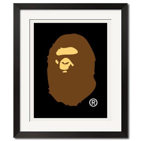 Bape Head LogoA Bathing Ape Poster or Art Print