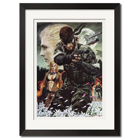 Metal Gear Solid Snake Eater Art Poster Print
