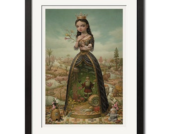 The Creatrix Gothic Surreal Poster Print