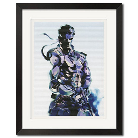 Metal Gear Solid Snake Classic Art Poster Print