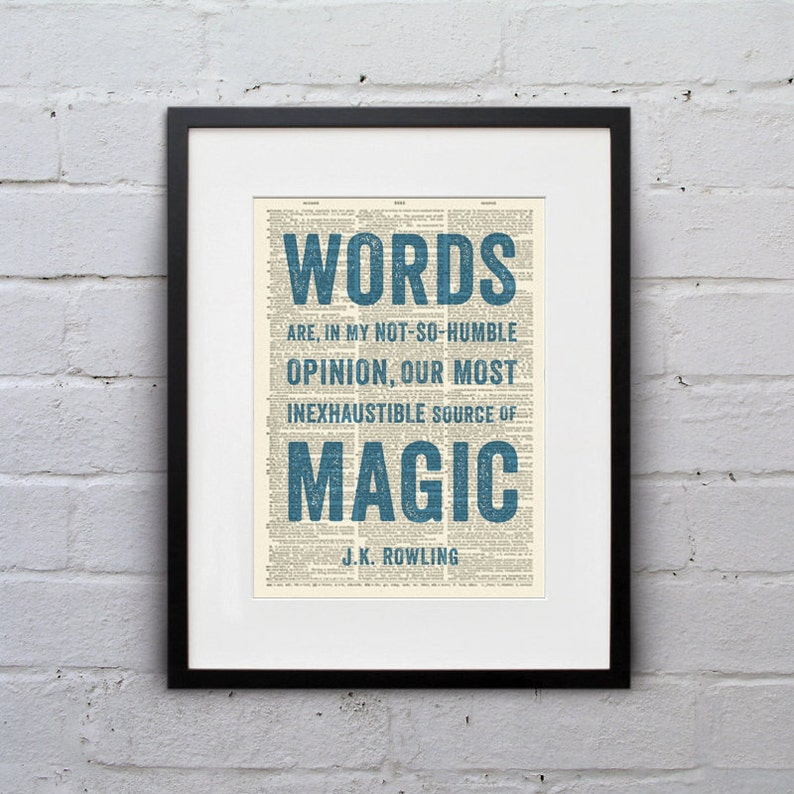 Words Are Our... Most Inexhaustible Source of Magic / J. K. image 0