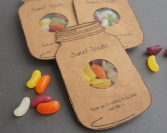 Sweet treat party favours
