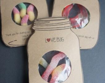 Love Bug Wedding favour, 100 Favour Bags