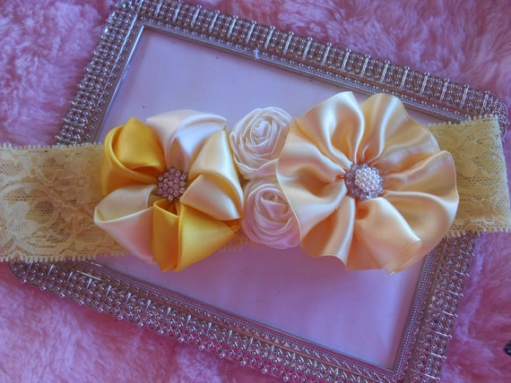 Headband Baby Toddler Flower girl wedding Baptism Photo op Special occasion Lunch date