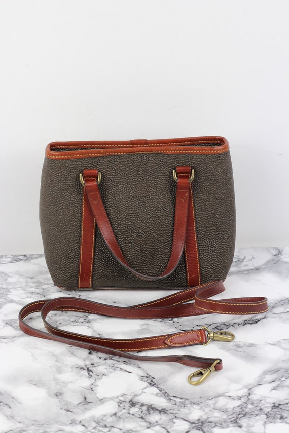 Vintage Mulberry Scotchgrain & Leather Twin Handle