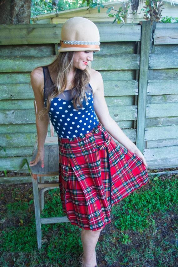 Vintage plaid skirt. Bobbi Brooks. Vintage Bobbi B
