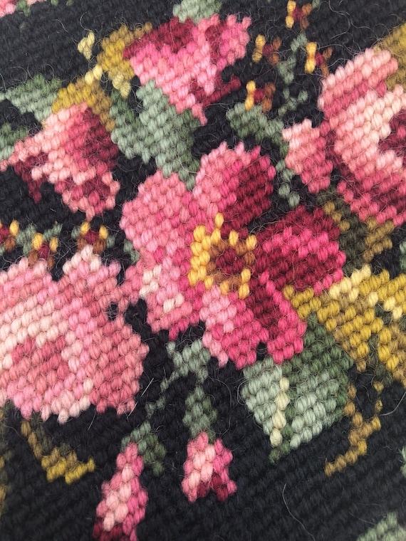 Vintage carpet bag embroidered purse