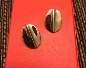 40035afe3 James Avery Clip On Oval Earrings Sterling Silver 925 Retired Rare