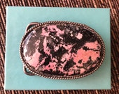 Wow Sterling Silver Pink Agate Belt Buckle Navajo Layaway Available