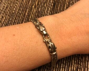 124c823ede440 Cougar head bracelet   Etsy
