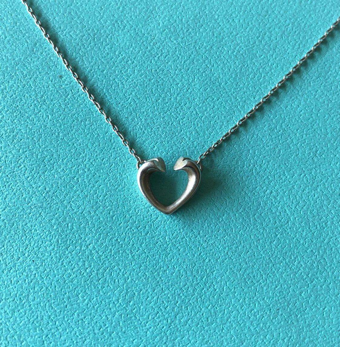 df45bd29a8bad Tiffany & Co. Paloma Picasso Small Open Heart Sterling Silver Necklace  Authentic Layaway Available