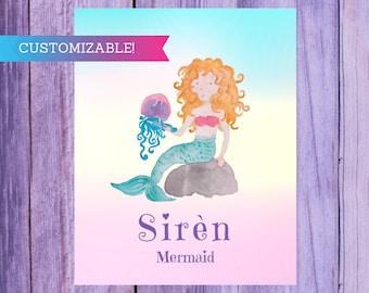 Art Print: mermaid / sirèn Haitian Creole