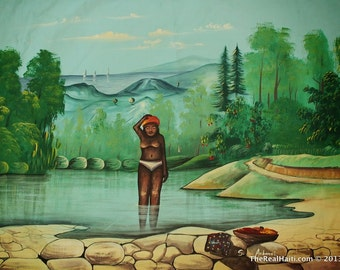 Haitian Painting  By S. Aubonel
