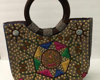 Veve style Haitian handbag