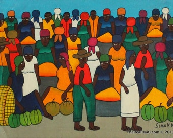 Haitian Painting  By Simon Vict