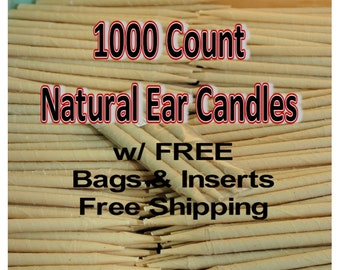 1000 Count Natural Ear Candles