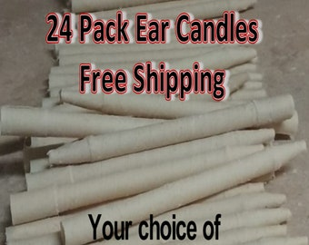 24 Pack Natural Ear Candles - Free Shipping!