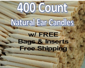 400 Count Natural Ear Candles