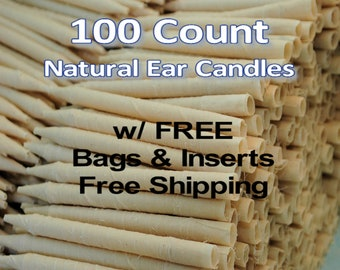 100 Count Natural Ear Candles