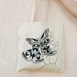 Release-Large Moth Tote Bag