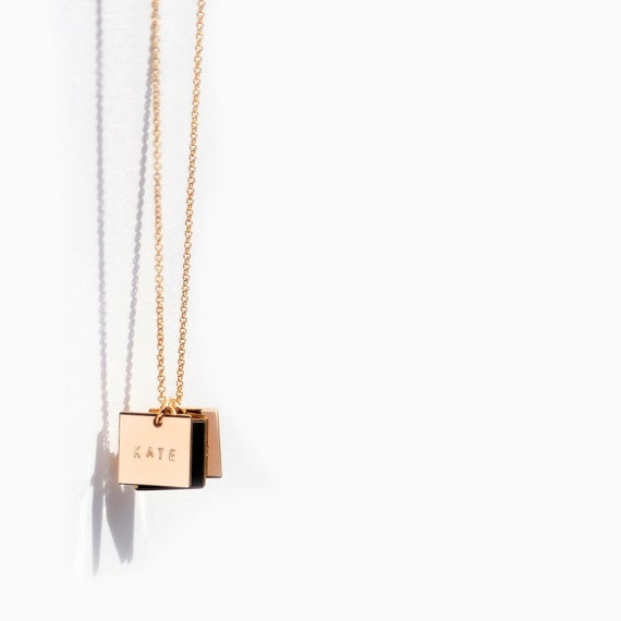 Personalized Square Necklace Pendent Jewelry customized with Your Photo Image
