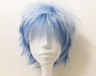 Short Blue Wig Etsy